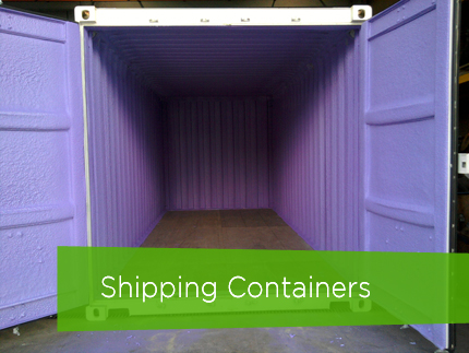Commercial Spray Foam Insulation - Shipping Containers